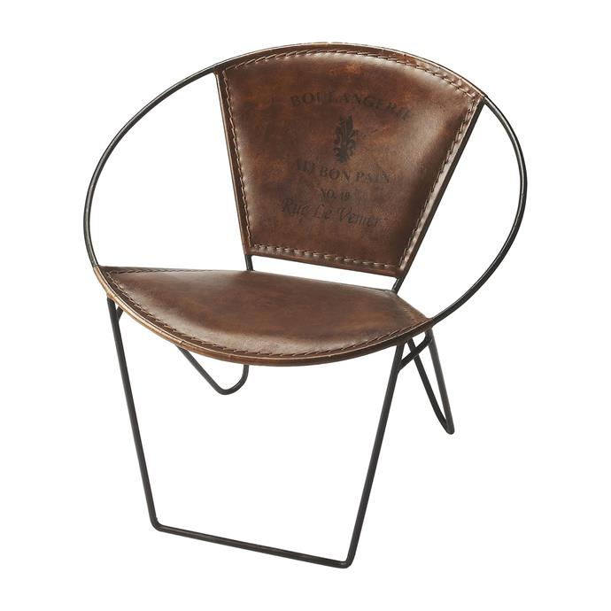"""Butler Milo Accent Chair, Iron & Leather, $719, [Maisonette](https://www.maisonette.com/product/milo-accent-chair-iron-leather