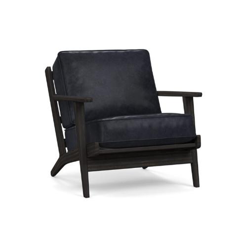 "Raylan Leather Armchair - Vintage Midnight, $1699, [Pottery Barn](https://www.potterybarn.com.au/raylan-leather-armchair-vintage-midnight|target=""_blank""|rel=""nofollow"")"