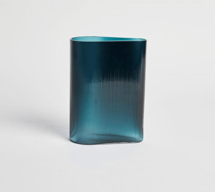 "Mist vase in Petroleum small, $240, [Jardan](https://www.jardan.com.au/product/mist-vase-petroleum/|target=""_blank""|rel=""nofollow"")"
