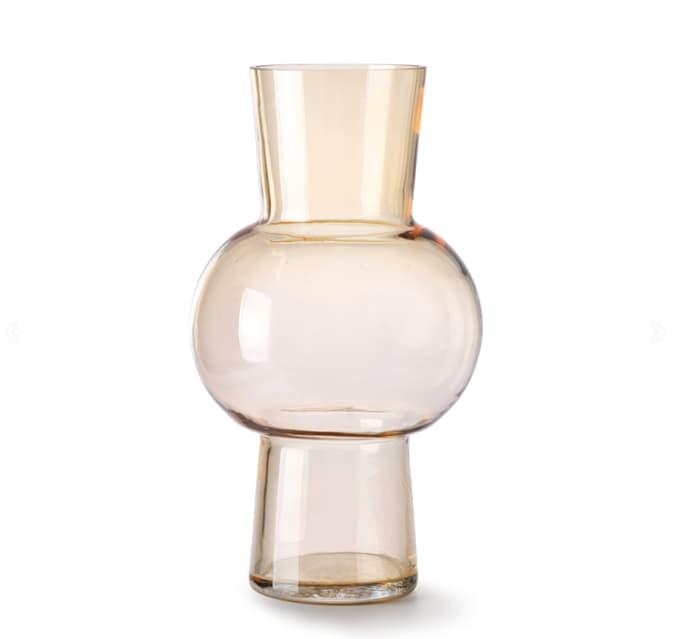 "HK Living Glass Flower Vase M Peach, $83.99, [Trouva](https://www.trouva.com/products/hk-living-glass-flower-vase-m-peach?currency=aud&gclid=Cj0KCQjwn7j2BRDrARIsAHJkxmyVev7_JBFy4gZTRHSfwV0BBtxfb0lB90ds2zTBJgAgdvANq97b_40aAgyWEALw_wcB|target=""_blank""