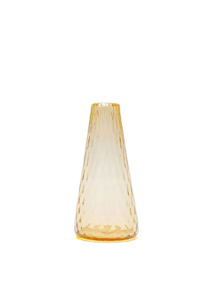 "LES OTTOMANS Ridged Murano glass vase, $230, [MatchesFashion](https://www.matchesfashion.com/au/products/Les-Ottomans-Ridged-Murano-glass-vase-1297347|target=""_blank""