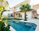 Kyal and Kara's Mediterranean-meets-coastal garden and pool