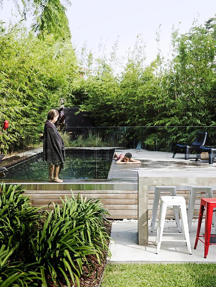 "Sydney architect Eva-Marie Prineas designed this tiled-concrete pool as part of a whole-home [Swiss-style renovation of a home in Sydney's Inner West](https://www.homestolove.com.au/gallery-swiss-style-house-extension-in-sydneys-inner-west-2001|target=""_blank"")."
