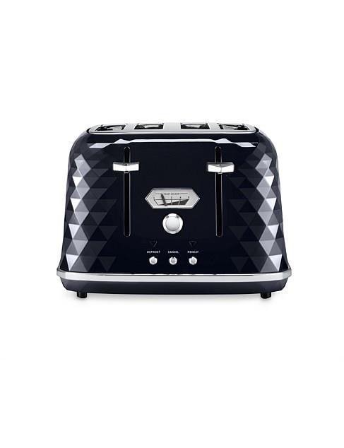 "Delonghi CTJX4003BK Brillante Exclusive 4 slice toaster, black, $149, [David Jones](https://www.davidjones.com/electrical/small-appliances/21687459/CTJX4003BK-Brillante-Exclusive-4-Slice-Toaster---Black.html|target=""_blank""|rel=""nofollow"")"
