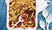 This rhubarb and apple crumble is the perfect winter dessert