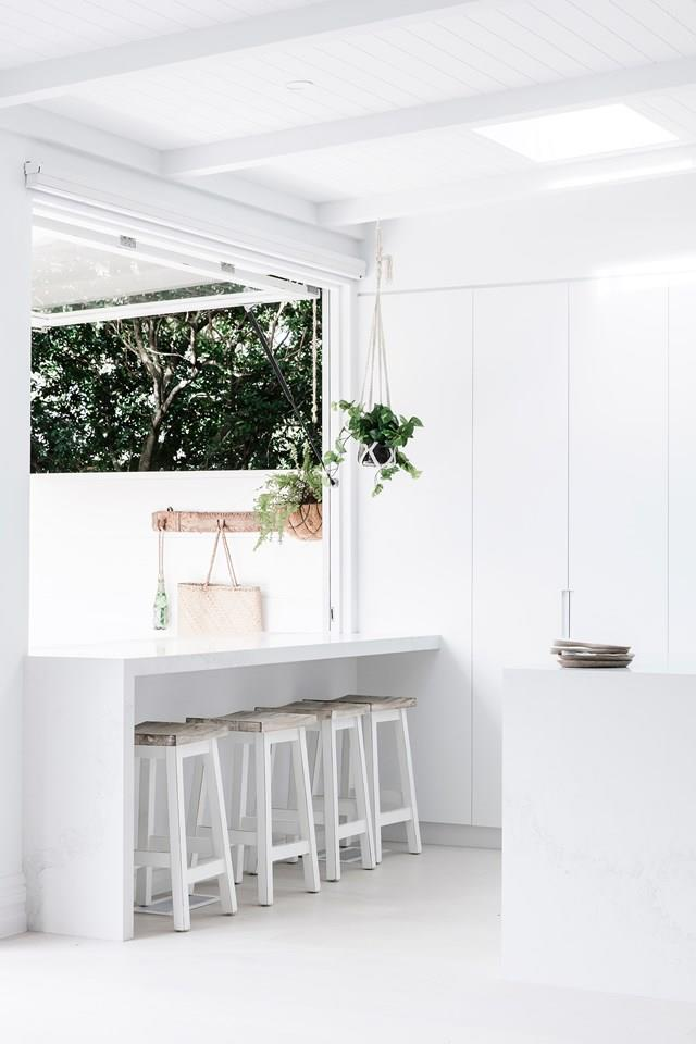 "As one third of Three Birds Renovations, Lana Taylor had clear ambitions when she [designed her Mediterranean-style house](https://www.homestolove.com.au/lana-taylors-modern-mediterranean-style-home-6378|target=""_blank""). ""The indoor/outdoor feel was non negotiable – we've had it in all our houses. It's one of my favourite places in the house. I love to sit here and look into the kitchen, into the staircase, everywhere,"" Lana says."