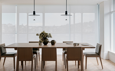 A harbourside apartment with a warm, minimalist interior