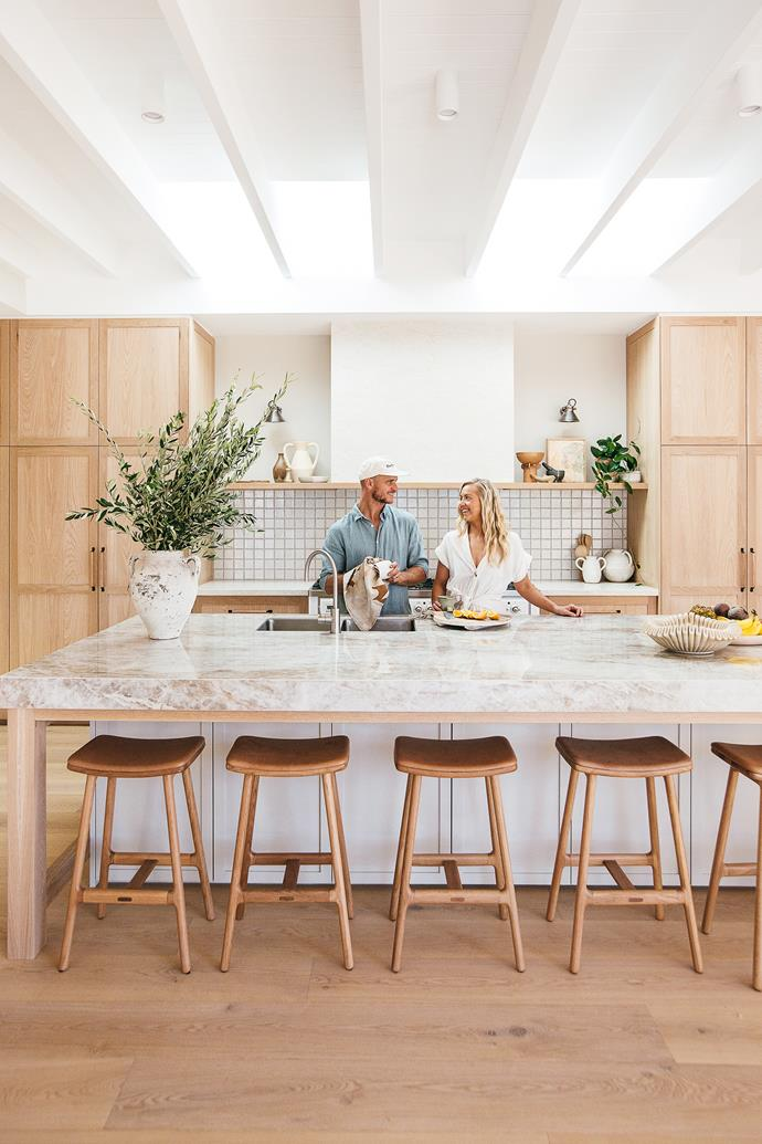 [Kyal and Kara] Demmrich, renovation superstars, entrepreneurs and the winners of The Block in 2014, live here with their children, Ziya, three and Vada, two, plus Jonah the Kelpie.
