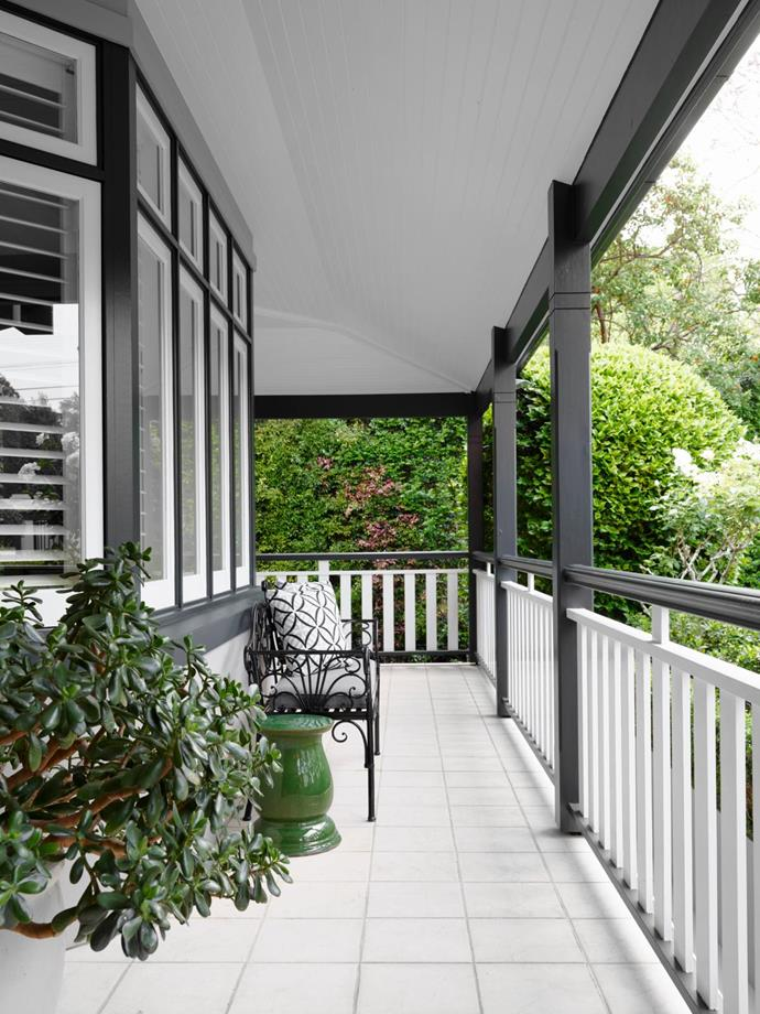 Situated off the home office, this balcony looks out to the front yard and street.