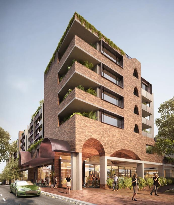 Render of the re-imagined Surry Hills Shopping Village.