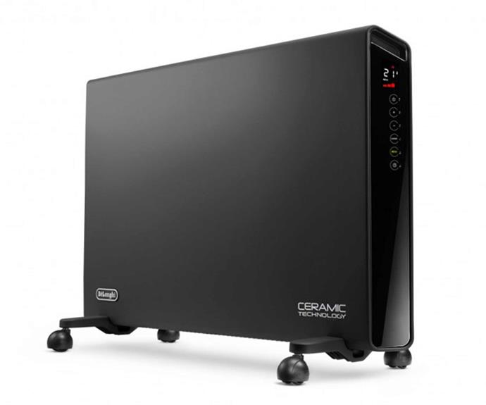 "De'Longi 2200W Ceramic Panel Heater, $369, [Harvey Norman](https://www.harveynorman.com.au/de-longhi-2200w-ceramic-panel-heater.html|target=""_blank""|rel=""nofollow"")."