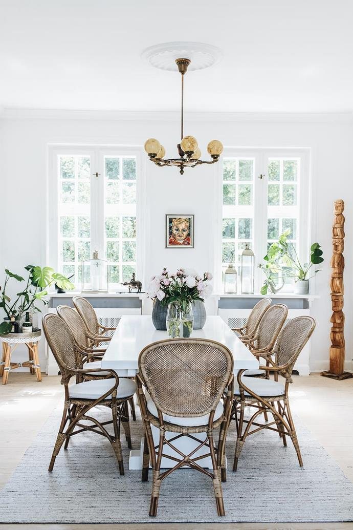 "An [old-fashioned home with classic Danish-style interiors](https://www.homestolove.com.au/danish-interior-design-21159|target=""_blank"") was freshened by a a vivid coat of [white paint](https://www.homestolove.com.au/how-to-choose-the-right-white-for-your-walls-15386