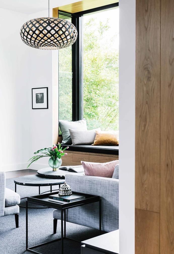 **In focus** The clever window seat nook has become the perfect reading space.