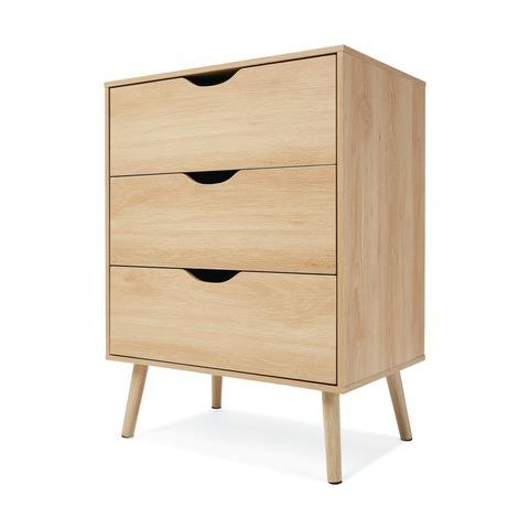"[Oak Look Chest of Drawers](https://www.kmart.com.au/product/oak-look-chest-of-drawers/2699335|target=""_blank""), $69"