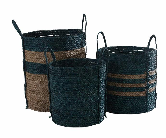 "L405 Merricks baskets, $286 for three, [Satara](https://www.satara.com.au/|target=""_blank""|rel=""nofollow"")."