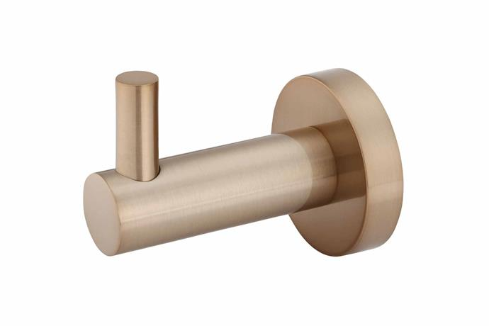 "Round robe hook in Champagne, $49, [Meir](https://www.meir.com.au/|target=""_blank""
