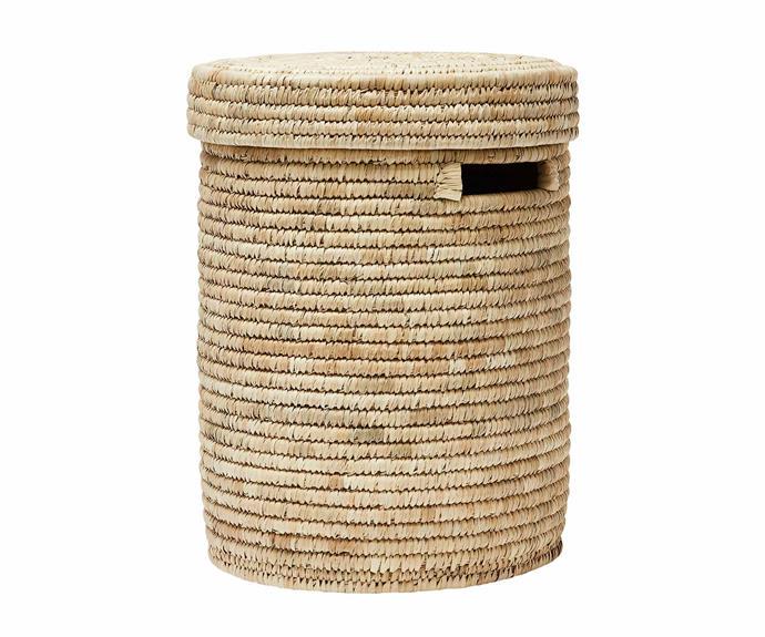 "Home Republic 'Masai' laundry basket, $99.99, [Adairs](https://www.adairs.com.au/|target=""_blank""|rel=""nofollow"")."