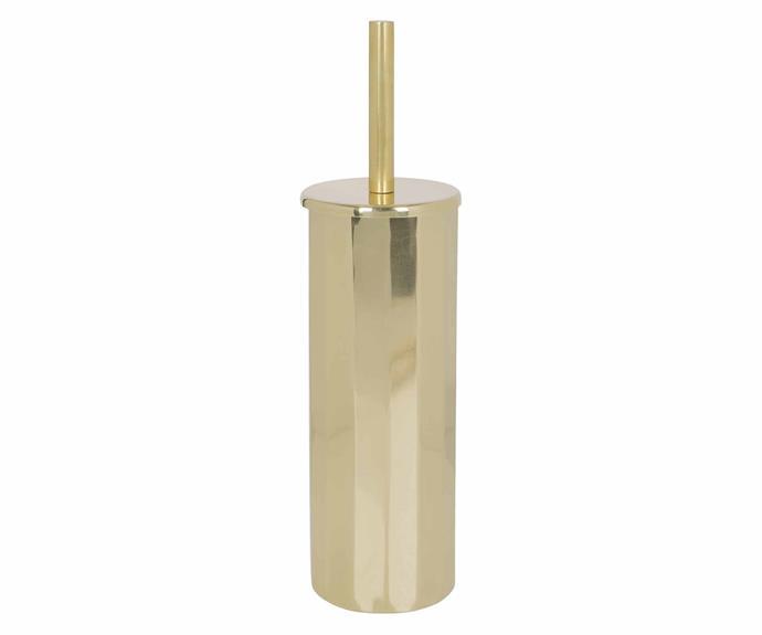 "A By Amara antique gold toilet brush, $109, [Amara](https://www.amara.com/au|target=""_blank""|rel=""nofollow"")."