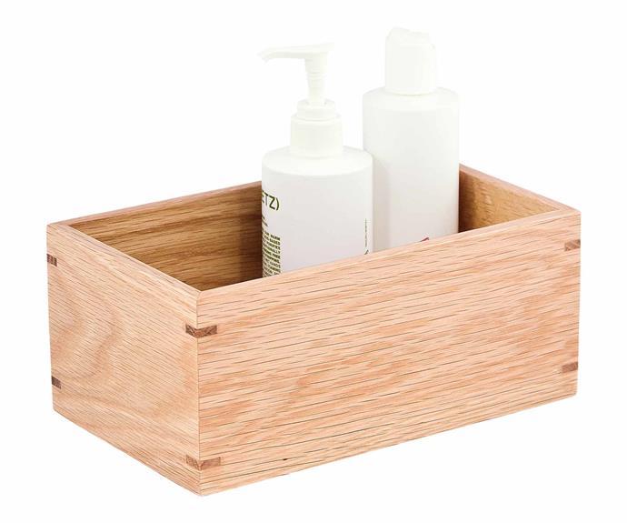 "Wireworks oak box, $70*, [Amara](https://www.amara.com/au|target=""_blank""|rel=""nofollow"")."