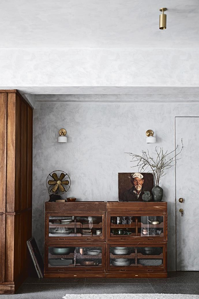 A fan from eBay and Zara Home ceramics decorate the sideboard.