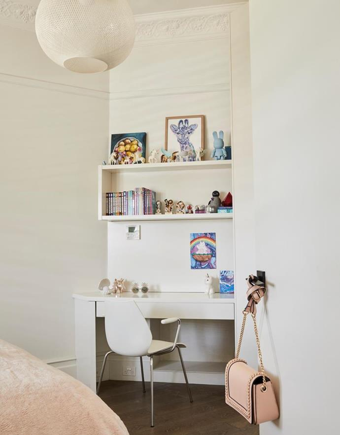 "The curated clutter movement is stylish as well as practical. An awkward wall shape has been cleverly utilised as a study space in this [fashion editor's home](https://www.homestolove.com.au/fashion-editors-designer-home-21275|target=""_blank"")."