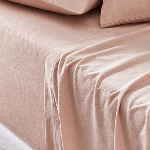 "Metro Plain Dyed Flannelette Pink sheet set, from $59.99, [Adairs](https://www.adairs.com.au/bedroom/outlet/metro/plain-dyed-flannelette-pink-sheet-set-e9894193/|target=""_blank""