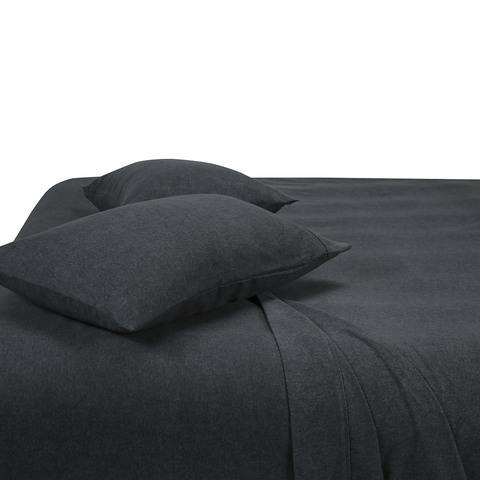 "Marle Cotton Flannelette sheet set in Dark Grey, $35 (Queen), [Kmart](https://www.kmart.com.au/product/marle-cotton-flannelette-sheet-set---queen-bed,-dark-grey/2958316|target=""_blank""|rel=""nofollow"")"