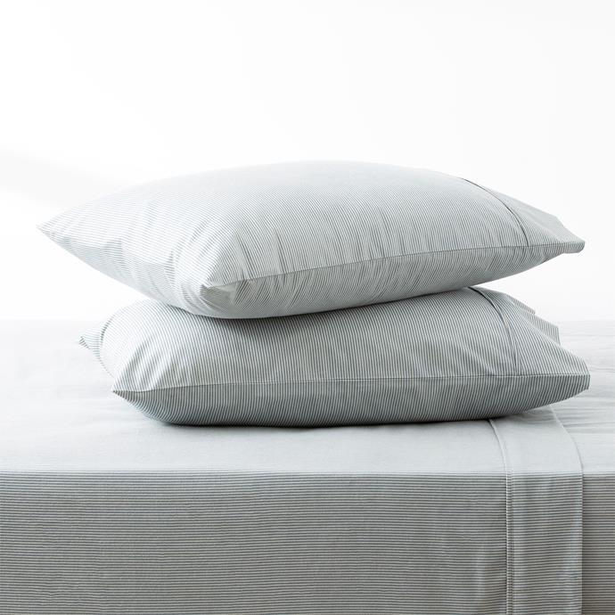 "Park Avenue 175 GSM Egyptian cotton Flannelette sheet set in Ticking Stripe, $149.95, [Cloud Linen](https://cloudlinen.com.au/product/park-avenue-175-gsm-egyptian-cotton-flannelette-sheet-set-ticking-stripe/|target=""_blank""|rel=""nofollow"")"
