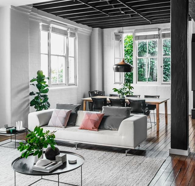 """A Brisbane couple had their eye on this historic warehouse building and leapt at the chance to make one of its [industrial-scale apartments](https://www.homestolove.com.au/historic-warehouse-turned-industrial-apartment-19973