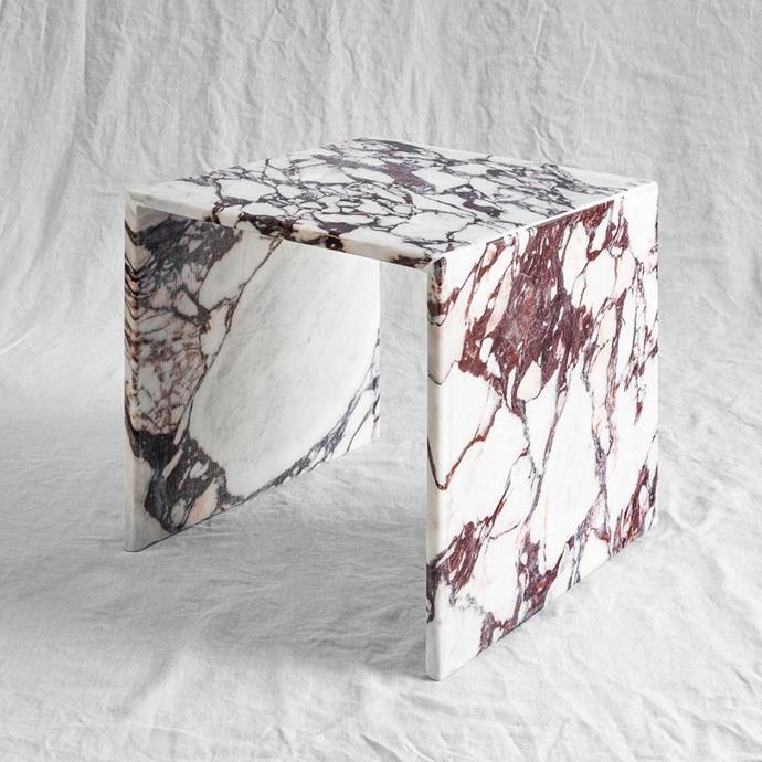 "Viola side table, $1,200, [Just Adele](https://www.justadele.com.au/collections/tables/products/viola|target=""_blank""