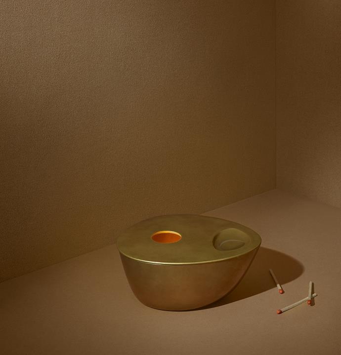 "Brass Oil Burner, $195, [Aesop](https://www.aesop.com/au/p/home/home-gifts/brass-oil-burner/|target=""_blank""|rel=""nofollow"")"