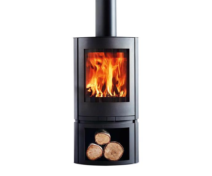 "Scandia 'Helix' wood fire, $1799, [Bunnings](https://www.bunnings.com.au/|target=""_blank""|rel=""nofollow"")."