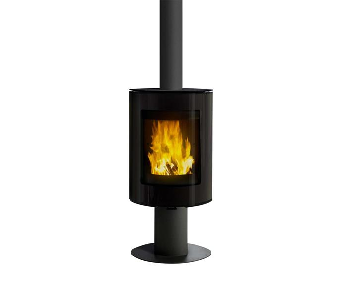 "VisionLINE 'Spin' wood-burning stove, POA, [Jetmaster](https://www.jetmaster.com.au/|target=""_blank""