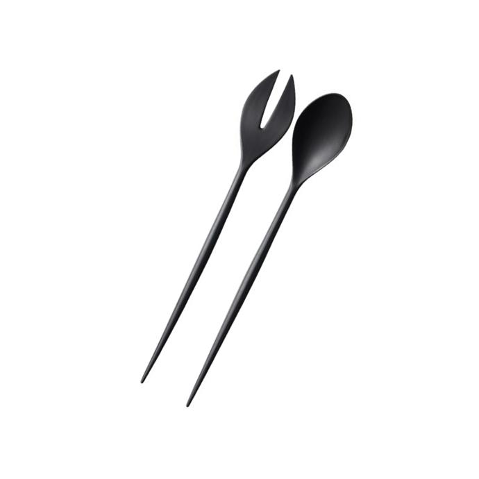 "Normann Copenhagen 'Krenit' salad servers in black, $43, [Designstuff](https://www.designstuff.com.au/normann-copenhagen-krenit-salad-servers-black/|target=""_blank""|rel=""nofollow"")"