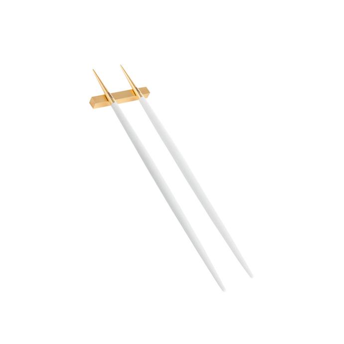 "Cutipol 'Goa' chopstick set, $80, [Amara](https://www.amara.com/au/products/goa-chopstick-set-matt-white-gold|target=""_blank""|rel=""nofollow"")"