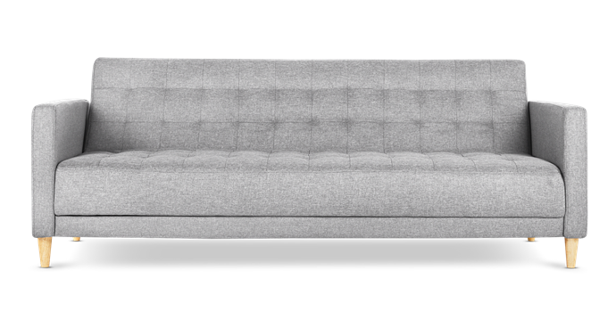 "Alexis 3-seater sofa bed in Sawana Light Grey, $699, [Lounge Lovers](https://www.loungelovers.com.au/|target=""_blank""