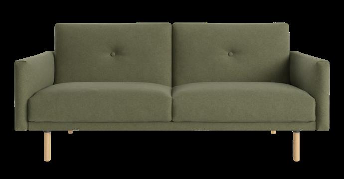 "Copenhagen sofa bed in Peridot Olive, $749, [Brosa](https://www.brosa.com.au/|target=""_blank""|rel=""nofollow"")."