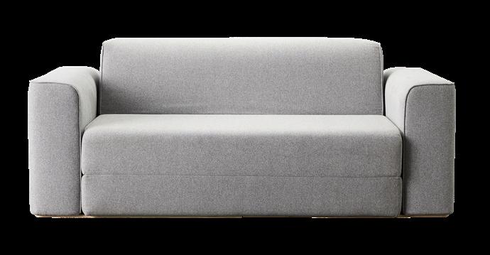 "Koala sofa bed in Lunar Grey, $1500, [Koala](https://au.koala.com/|target=""_blank""|rel=""nofollow"")."