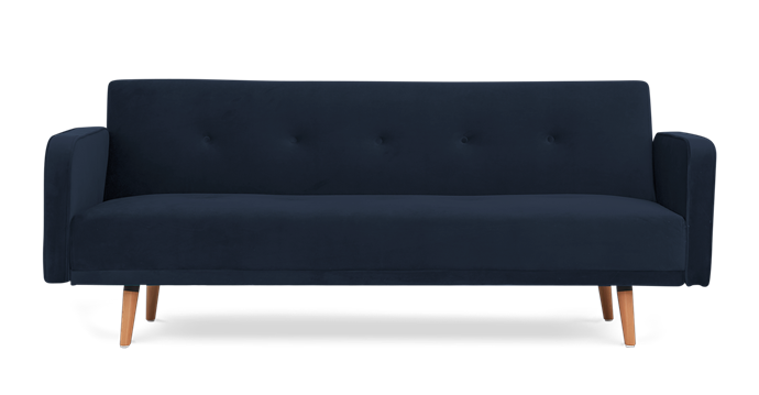 "Nathan sofa bed in Midnight Blue Velvet, $699, [Castlery](https://www.castlery.com.au/|target=""_blank""