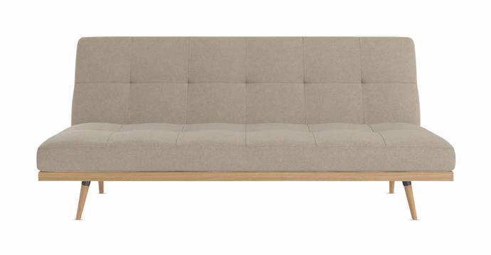 "Siesta 3-seater sofa bed in Biscuit Beige, $529, [Brosa](https://www.brosa.com.au/|target=""_blank""|rel=""nofollow"")."