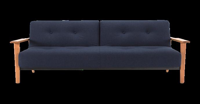 "Innovation Living 'Ample Frej' sofa bed in Mixed Dance Blue, $3399, [BedWorks](https://www.bedworks.com.au/|target=""_blank""|rel=""nofollow"")."