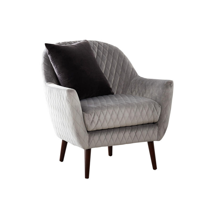 **New Orleans occasional chair, $499** With its plush quilted-velvet upholstery and tapered legs, this well-priced chair would make an elegant addition to 