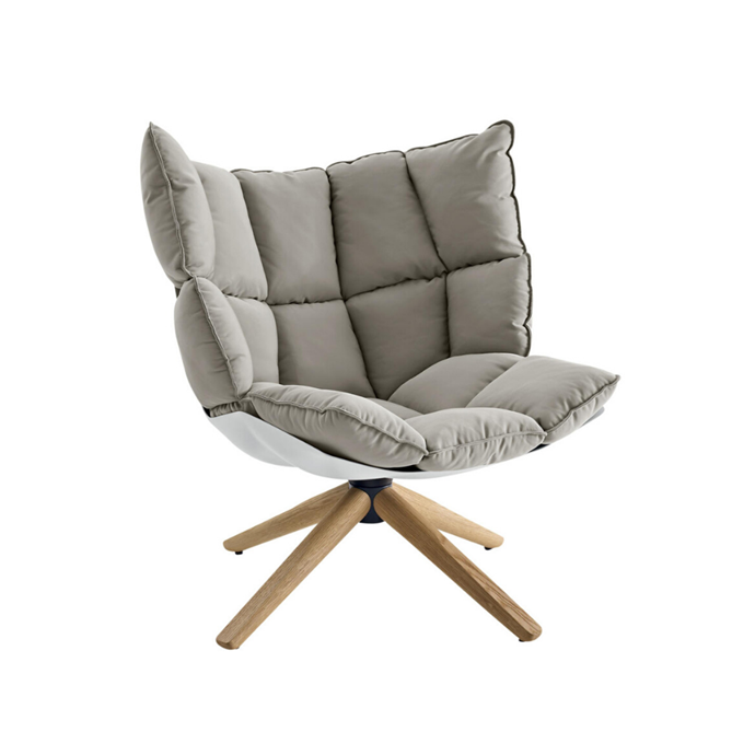**B&B Italia 'HUSk' swivel chair, $6650** A design by Patricia Urquiola, this super-soft chair suits all interior styles. Handcrafted in Italy, it has an oak base, recycled-plastic shell and wool-blend upholstery. [spacefurniture.