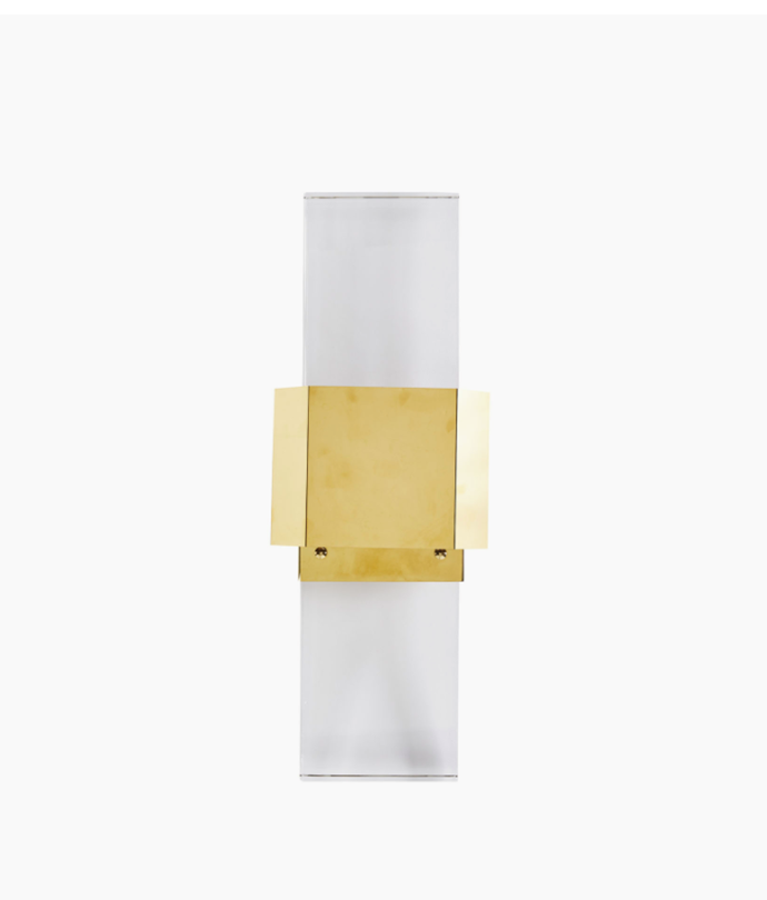 "Crystal Block Wall Sconce, $835, [Coco Republic](https://www.cocorepublic.com.au/crystal-block-wall-sconce|target=""_blank""