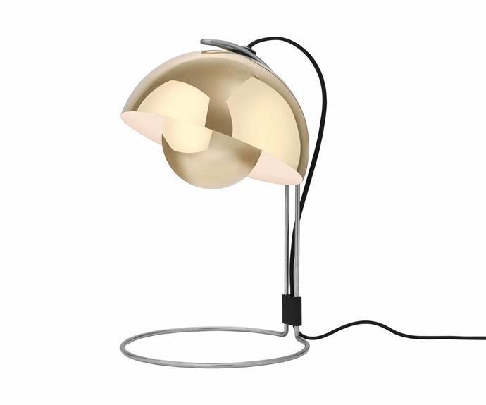 "Verner Panton 'Flowerpot VP4' table lamp, $660, [Cult](https://cultdesign.com.au/|target=""_blank""|rel=""nofollow"")."