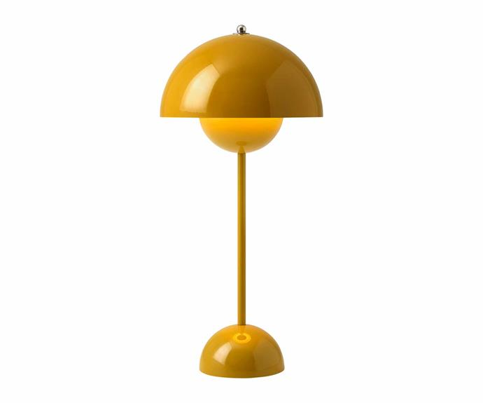 "Verner Panton 'Flowerpot VP3' table lamp, $590, [Cult](https://cultdesign.com.au/|target=""_blank""|rel=""nofollow"")."