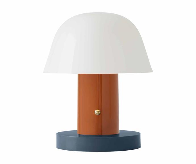 "&Tradition 'Setago JH27' table lamp in Rust-Thunder, $156, [Finnish Design Shop](https://www.finnishdesignshop.com/?region=au|target=""_blank""|rel=""nofollow"")."