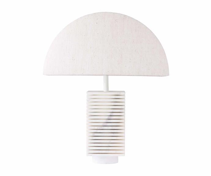 "Balla table lamp, $580, [King Living](https://www.kingliving.com.au/|target=""_blank""|rel=""nofollow"")."