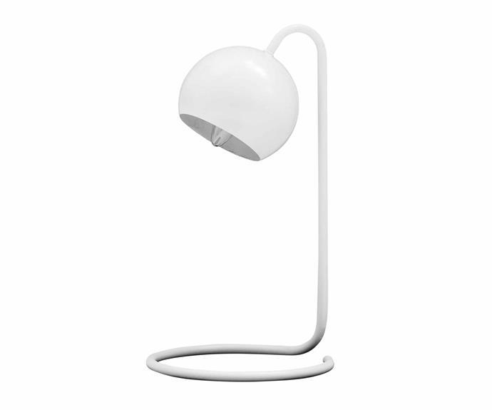 "DS hand-turned lamp in Navy Linen, $739*, [Douglas & Bec](https://www.douglasandbec.com/|target=""_blank""|rel=""nofollow"")."