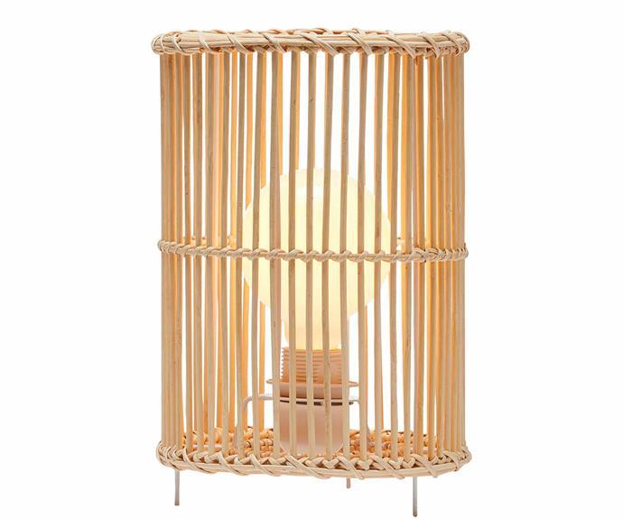 "Line table lamp in Midnight/Black, $529*, [Douglas & Bec](https://www.douglasandbec.com/|target=""_blank""|rel=""nofollow"")."
